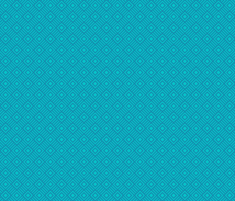 Geometric Square Teal Turquoise Small Tonal fabric by phyllisdobbs on Spoonflower - custom fabric