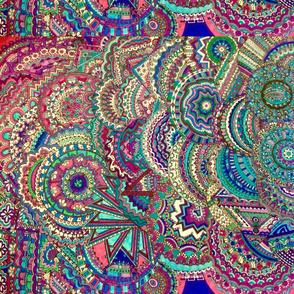 Extreme doodle blues purples
