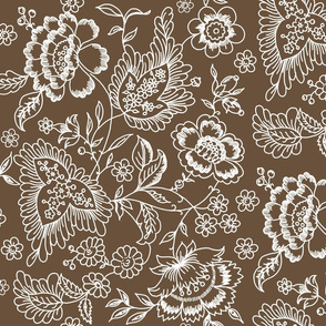 Kashmir Toile brown sugar