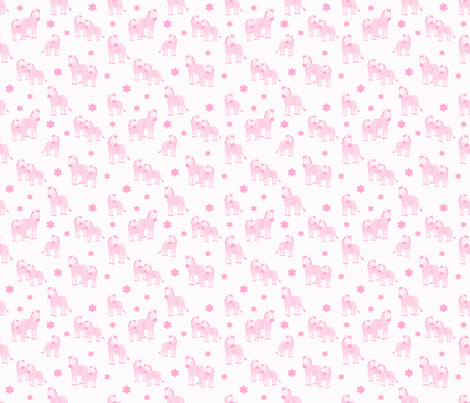 Zebra baby girl pink floral safari jungle animal nursery fabric by decamp_studios on Spoonflower - custom fabric