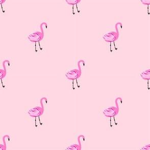 Flamingo flamingo fabric // simple cute pink flamingo, baby, nursery, cute, summer preppy flamingos - pink