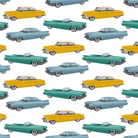cars of 50s (small scale) fabric by svetlana_prikhnenko on Spoonflower - custom fabric