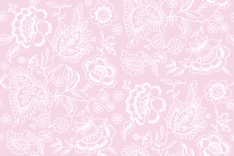 Kashmir Toile sorbet 2 fabric by lilyoake on Spoonflower - custom fabric