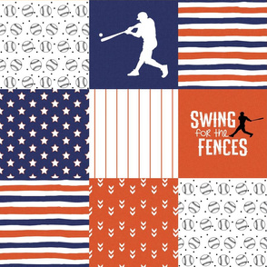 Baseball//Swing for the fences//Detroit - Wholecloth Cheater Quilt