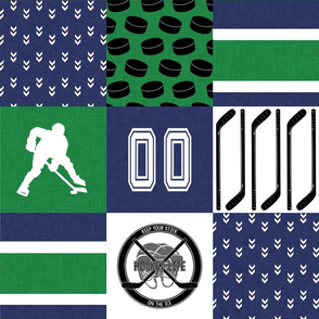 Hockey//Keep your stick on the ice//Vancouver - Wholecloth Cheater Quilt