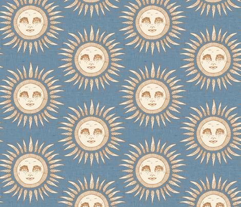 sun blue fabric by scrummy on Spoonflower - custom fabric