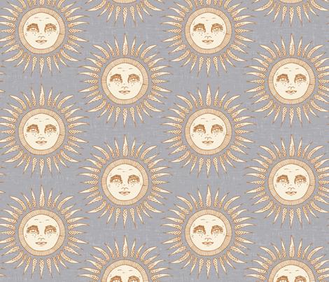 sun silver fabric by scrummy on Spoonflower - custom fabric