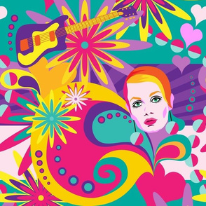 sixties colour explosion: flowers, music and twiggy