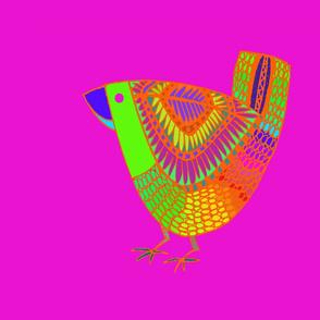 Bird Place Mat Pink