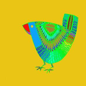 Bird Place Mat Yellow