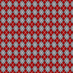 Argyle Red and Grey
