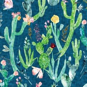 Cactus Garden (denim)