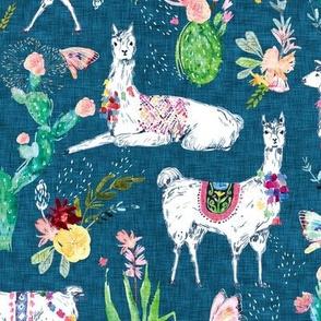 Lovely Llama (denim)
