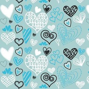 Mint Green Valentines hearts
