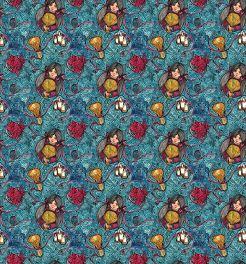 The Legend of the Poinsettia fabric by nicoletlaursen on Spoonflower - custom fabric