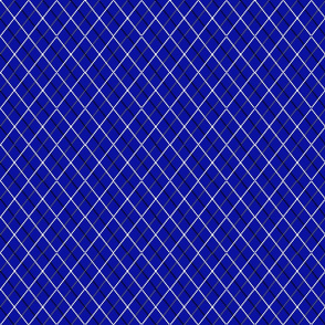 blue argyle simple