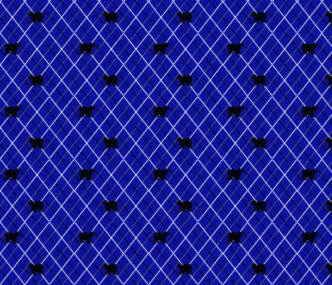 blue argyle with bears fabric by dreamoutloudart on Spoonflower - custom fabric