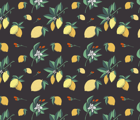 Flowers and Sours fabric by nicoletlaursen on Spoonflower - custom fabric