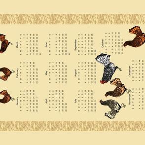 2019 chicken calendar h