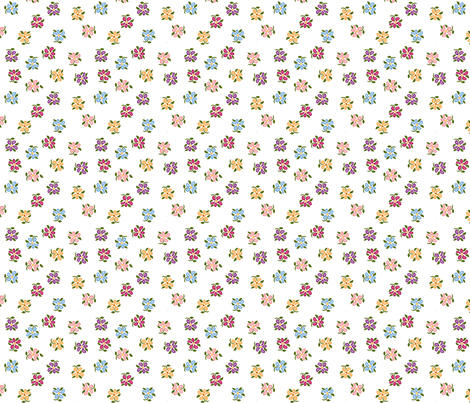 scattered small flowers ditsy A fabric by khowardquilts on Spoonflower - custom fabric