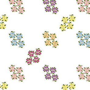 scattered flower clusters a