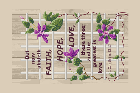 lattice clematis faith hope love resized h fabric by khowardquilts on Spoonflower - custom fabric