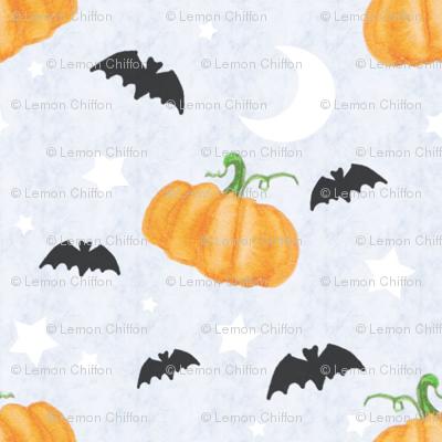 Pumpkin Bat Ditsy