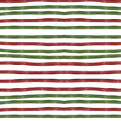 christmas stripes -green and red