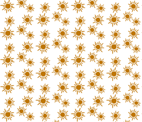 Sun golden sunflower  fabric by sunny_afternoon on Spoonflower - custom fabric