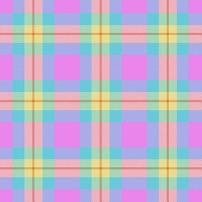 Yellow and Pink Plaid