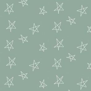 stars - hand drawn stars aqua blue green
