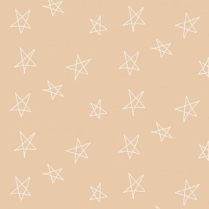 hand drawn stars - blush peach