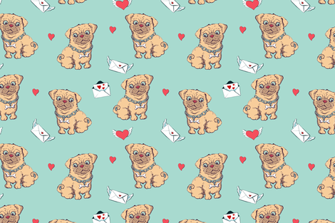 dog_pattern3 fabric by yuliya_art on Spoonflower - custom fabric