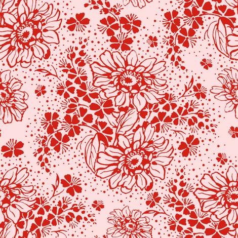 Galina strawberry sorbet fabric by lilyoake on Spoonflower - custom fabric