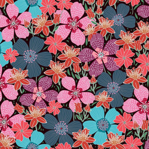 1960s retro florals