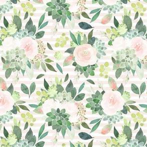 """12"""" Succulent Bouquets // Sand Stripes"""