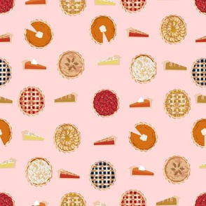 pie fabric - pies, pie, food, baking, baker, cooking, thankful, thanksgiving - pink