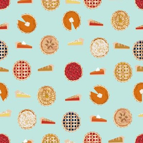 pie fabric - pies, pie, food, baking, baker, cooking, thankful, thanksgiving - mint