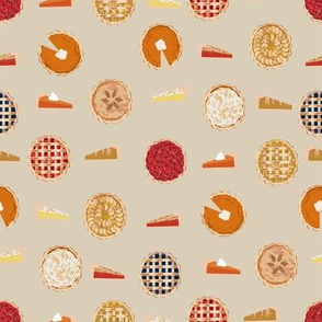 pie fabric - pies, pie, food, baking, baker, cooking, thankful, thanksgiving - tan