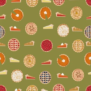 pie fabric - pies, pie, food, baking, baker, cooking, thankful, thanksgiving - olive
