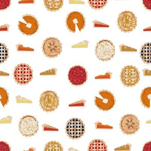 pie fabric - pies, pie, food, baking, baker, cooking, thankful, thanksgiving - white