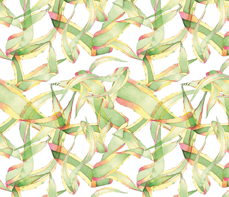 Botanical Abstract  fabric by giselledekel on Spoonflower - custom fabric