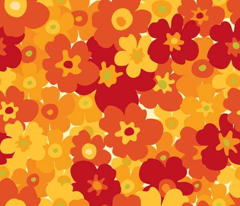 Flower Power fabric by snowflower on Spoonflower - custom fabric
