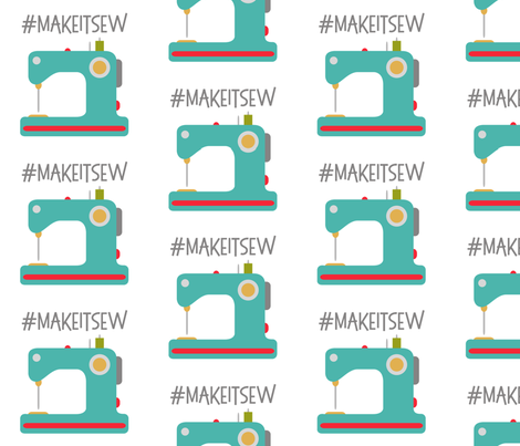 Make it Sew - White fabric by craftystaci on Spoonflower - custom fabric