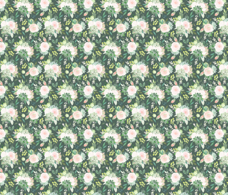 "8"" Mystical Succulents on Green fabric by hipkiddesigns on Spoonflower - custom fabric"