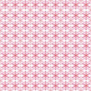 Geometric Light & Dark Pink Daisy Pattern