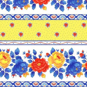 Provence Floral Stripe