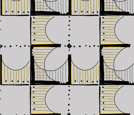 Pittsburgh Bridges, Gray fabric by ulterior on Spoonflower - custom fabric