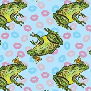 Frog Prince on Blue
