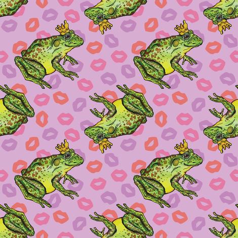 Frog Prince on Purple fabric by artfulfreddy on Spoonflower - custom fabric